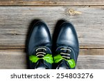 italian leather shoes concept ... | Shutterstock . vector #254803276