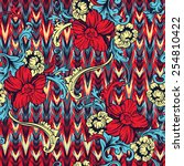 eclectic fabric seamless... | Shutterstock .eps vector #254810422