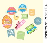set of web sale labels and... | Shutterstock .eps vector #254811316
