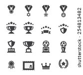 award icon set   Shutterstock .eps vector #254813482