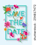 wedding invitation design | Shutterstock .eps vector #254817472