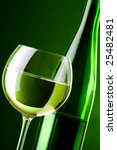 a glass of white wine and a... | Shutterstock . vector #25482481