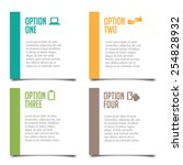 four options infographic design ... | Shutterstock . vector #254828932