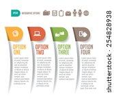 four options infographic design ... | Shutterstock .eps vector #254828938