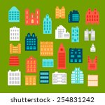 set of  icons with charts and... | Shutterstock . vector #254831242