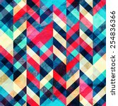 hipster zigzag seamless pattern ... | Shutterstock .eps vector #254836366