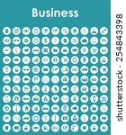 set of business simple icons | Shutterstock .eps vector #254843398