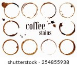 Coffee stains. Vector illustration isolated on white background
