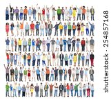 people diversity success... | Shutterstock . vector #254857168