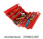Red Metal Box Filled With Tools....