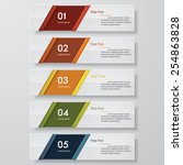design clean number banners... | Shutterstock .eps vector #254863828