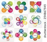 set of modern infographic...   Shutterstock .eps vector #254867545