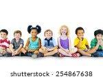 children kids happiness... | Shutterstock . vector #254867638