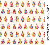rainbow pattern | Shutterstock .eps vector #254869345