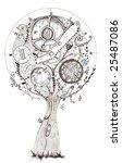 clock  hand drawing  ink | Shutterstock . vector #25487086