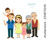 vector illustration of happy... | Shutterstock .eps vector #254873245