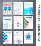 templates. design set of web ... | Shutterstock .eps vector #254883712
