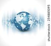 communication world  ...   Shutterstock .eps vector #254885095