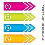 special arrow stickers set with ... | Shutterstock .eps vector #254885662