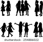 children silhouettes   Shutterstock .eps vector #254886022