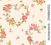 flower background   seamless... | Shutterstock .eps vector #254886352