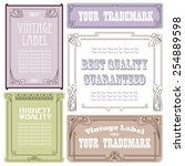 vector vintage style labels and ... | Shutterstock .eps vector #254889598
