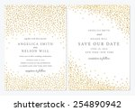 save the date and wedding card... | Shutterstock .eps vector #254890942