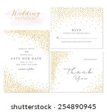 save the date collection with... | Shutterstock .eps vector #254890945