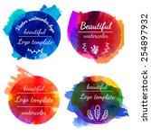 set of templates  logos  signs. ...   Shutterstock .eps vector #254897932