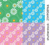 seamless floral pattern of... | Shutterstock .eps vector #254908966