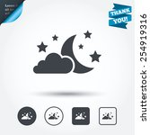 moon  clouds and stars icon.... | Shutterstock .eps vector #254919316