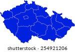 map of czech republic | Shutterstock .eps vector #254921206