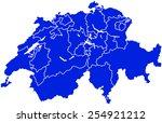 map of switzerland | Shutterstock .eps vector #254921212