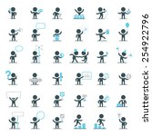 large set of simple vector... | Shutterstock .eps vector #254922796