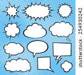 comic book speech bubbles on a... | Shutterstock .eps vector #254930242