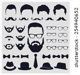 hipster style icon set  ... | Shutterstock .eps vector #254940652