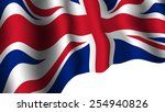 united kingdom flag with shades ... | Shutterstock .eps vector #254940826