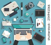 flat style modern design... | Shutterstock .eps vector #254941066