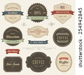 collection of vector vintage... | Shutterstock .eps vector #254942845