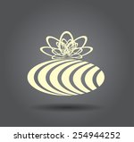 icon of a gift | Shutterstock .eps vector #254944252