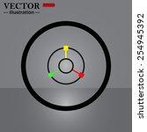 gps navigation   vector... | Shutterstock .eps vector #254945392