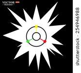 gps navigation   vector...