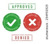 approved and denied stamps.... | Shutterstock .eps vector #254953525
