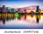 orlando  florida  usa downtown... | Shutterstock . vector #254957146
