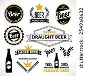 beer labels | Shutterstock .eps vector #254960632