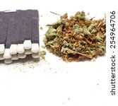 pot  cannabis  weed  marijuana... | Shutterstock . vector #254964706