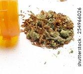 medical marijuana   white... | Shutterstock . vector #254966026