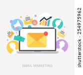 email marketing concept vector... | Shutterstock .eps vector #254975962