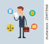 character   lawyer  law concept....   Shutterstock .eps vector #254975968