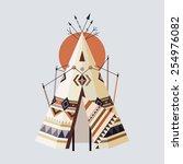 vector illustration of indian...   Shutterstock .eps vector #254976082
